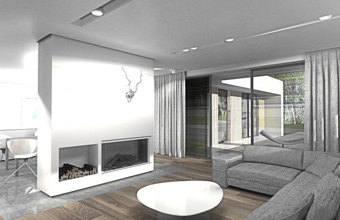 Osiedle Srebrne Stawy – wnętrza domu parterowego